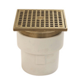Zurn FD2211-ABS-ST<br> 3x4 Adjustable Floor Drain w Square Top
