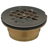 Zurn FD-2275-BR2<br> Brass No-Caulk Shower Stall Drain