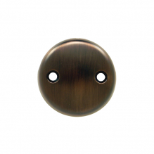FP-142-ORB, Face Plate, 2 Hole w/Brass Screws, oil rubbed bronze