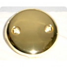 FP142PBR, Face Plate, 2 Hole w/Brass Screws, Polished Brass Fin