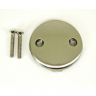 FP142SN, Face Plate two Hole w/Brass Screws, Satin Nickel Finish