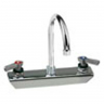 CHG KL45-8002-SE1 Wall Mount Faucet8'' Center 6''Swing Gooseneck