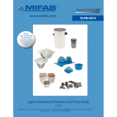 "MIFAB  FT6-1 6"" NICKLE BRONZE STRAINER  REC TILE FLANGE"