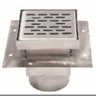 "P2084 Mifab P2080 SS FLOOR DRAIN 8"" SQ/ 4"" OUTLET/FULL GRATE"