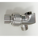 PSC402-SN, Plastic Shower Arm Mount with Satin Nickel Brass Ball