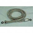 69' Stainless Pers.Shr Hose, double lock, c/p Brass Nut