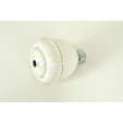 S110, Adj. Massage Shower Head, White Plastic Body