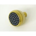 S188PVD, Clog Resistant Shower Head Polished Brass PVD Finish