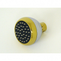 S188S-PVD, Clog Resistant Shr. Head Chrome & Polished Brass PVD