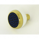 S188W-PVD, Clog Resistant Shr. Head White & Polished Brass PVD F