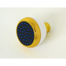 S188WG, Clog Resistant Shower Head White & Gold Finish