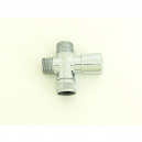 S338, Shower Diverter Solid Brass C/P Push & Pull 1/2 x1/2 MIPS