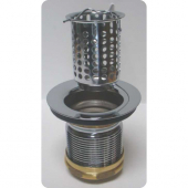 SA103, Duplex strainer Assembly, Brass Chrome Plated