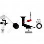 KOHLER* REBUILD KIT FOR OLDER ONE PIECE TOILETS