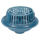 Zurn ZRB100-4NH-C-R-U1 15In Dia Roof Drain w/ Brz Dome - Deck Cl