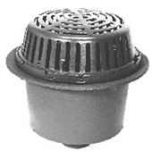 Zurn ZC104-3IC<br> 15In Dia Deep Sump Roof Drain w/ CI Dome