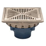 Zurn Z158-3IP-90<br> 10In  Square CI Prom Deck Drain-Side Outlet