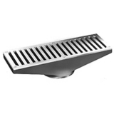 Zurn Z1723-3IP 4In x 12In Stainless Steel Gutter Drain