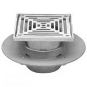 "Zurn Z1727-2IP-SQ6 SS Adj Medium Duty Floor Drain w/ 6"" Square"