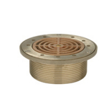 Zurn ZB400-5M<br> (MTO) 5In Rd Adj Polished Bronze Strainer