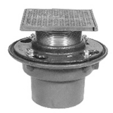 Zurn Z415-2NH-5S-CP<br>  Cast Iron Floor Drain w/ Square Top