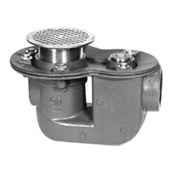 "Zurn Z455-2 Trap Drain w Floor Ceanout &Type ""B"" Strainer 2in"