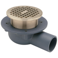 Zurn ZN460-2NH-5B Shallow Body Floor Drain w/Side Outlet and InT