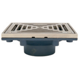 Zurn Z461<br> 6in Sq Modular Non-Ad Floor Drain w Clamping Frame