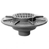 Zurn ZN533-3NH 9In Dia Heavy Duty Parking Deck Drain w/ Polished