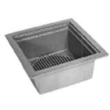Zurn Z566-3NH-GT 12In Square Open Top Drain-Top Grate-Bucket