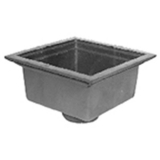 Zurn Z568-4NL-GT<br> 16In Square Open Top Drain-Top Grate