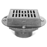 Zurn Z609-3NH-H 9In Square Heavy Duty Drain-Hinged Grate