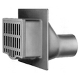 Zurn Z629-6NH (MTO) Vertical Wall Drain w/ BWV & Cast Iron Grate