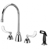 Zurn Z831C4-HS Widespread Faucet Gooseneck Spout and Side Spray
