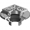 MIFAB  F1000-C-S FLOOR DRAIN /HD SQ STAINLESS  STRAINER / CLAMP