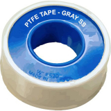"PTFE TAPE -GRAY STAINLESS STEEL - 1/2"" X520"" Rolls -(Case of 12)"